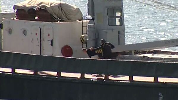 Спецназ штурмовал судно в Черном море, чтобы обезвредить террористов