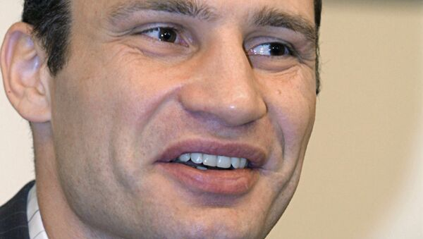 Боксер Виталий Кличко. Архивное фото