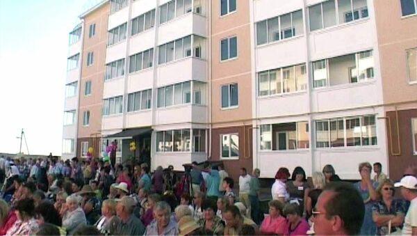Пострадавшие от наводнения в Крымске заселяются в новые квартиры
