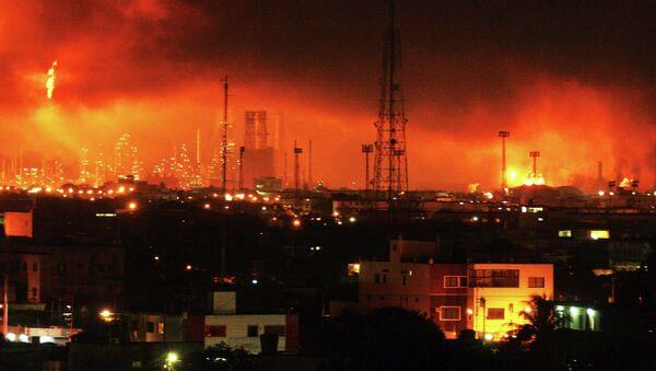 Взрыв на нефтезаводе в Венесуэле