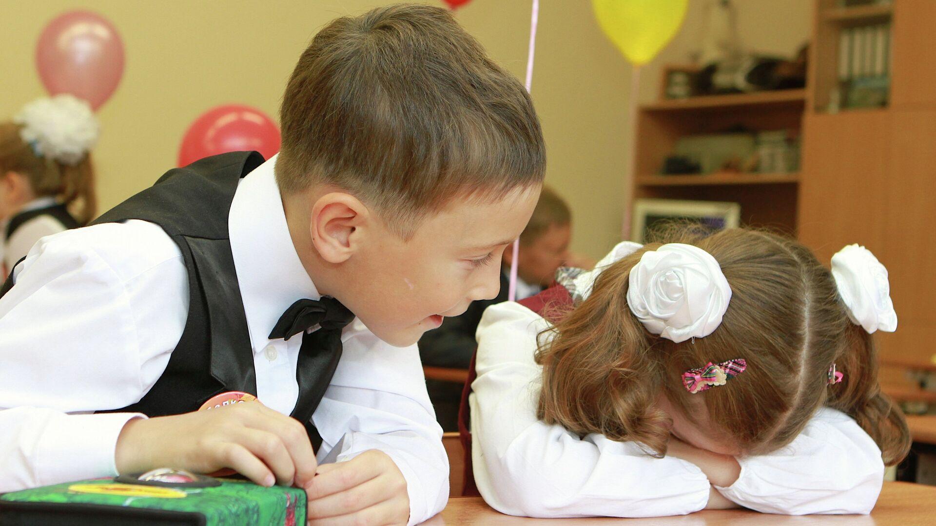 школа первый звонок линейка 1 сентября день знаний - РИА Новости, 1920, 05.09.2021