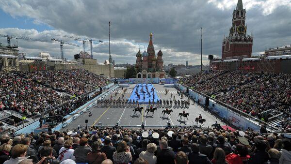 Церемония открытия Дня города на Красной площади в Москве