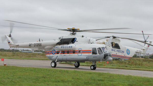 Новый вертолет Ми-8, созданный для проведения поисково-спасательных работ,  поступил на Дальний Восток