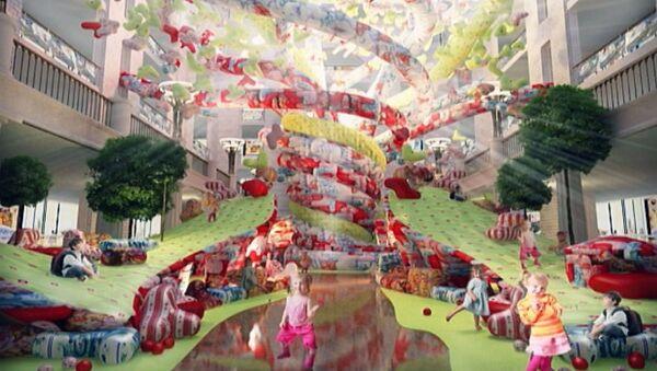 Теремок, дерево-горка и другие идеи дизайнеров для Детского мира в Москве