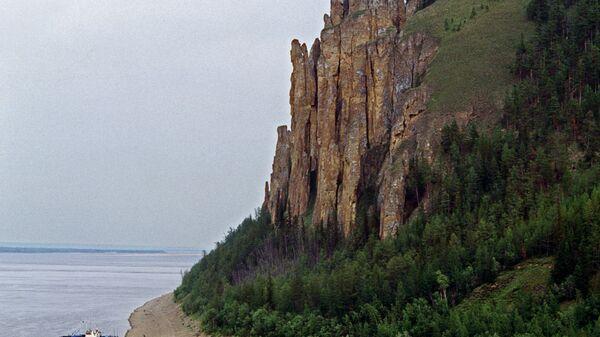 В заповеднике Ленские столбы в Якутии