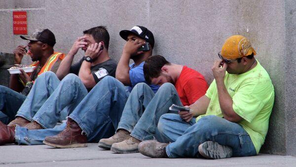 Строительные рабочие в США. Архивное фото