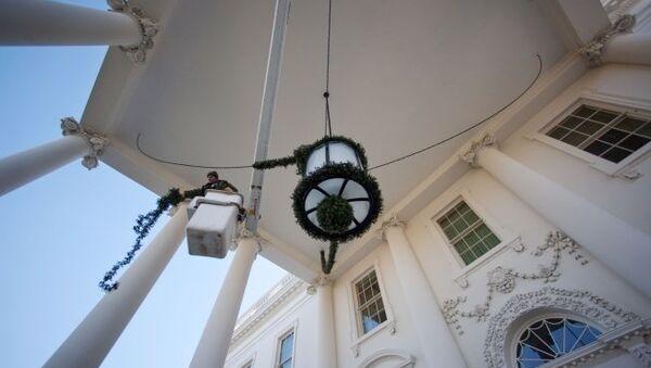 Белый дом - официальная резиденция президентов США. Архивное фото
