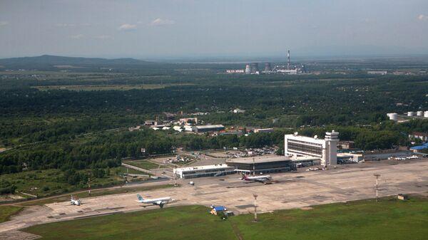 Вид на международный аэропорт Хабаровск-Новый