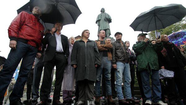 Театрализованный митинг актеров театра им. Гоголя