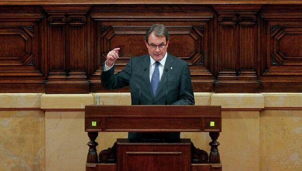 Выступление президента Каталонии Артура Маса