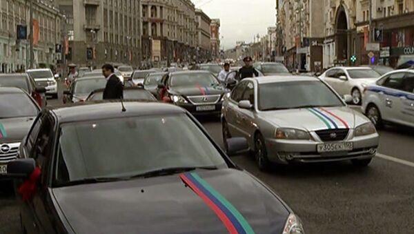 Стрельба из машины свадебного кортежа в центре Москвы
