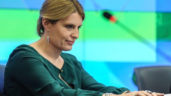 Главный редактор РИА Новости Светлана Миронюк на пресс-конференции Исследование эколого-экономической ситуации в РФ