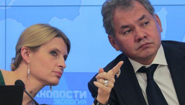 Главный редактор РИА Новости Светлана Миронюк и губернатор Московской области Сергей Шойгу