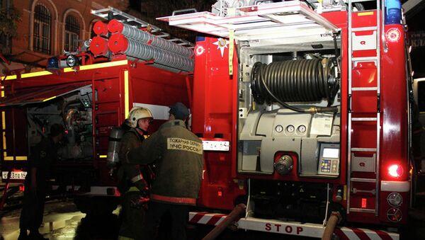 Пожар в здании саратовского ТЮЗа