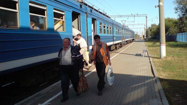 Пригородный поезд в Ростове-на-Дону
