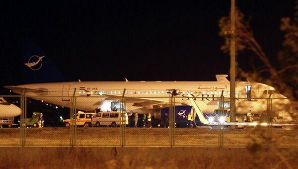 Сирийский самолет, посаженный в Анкаре