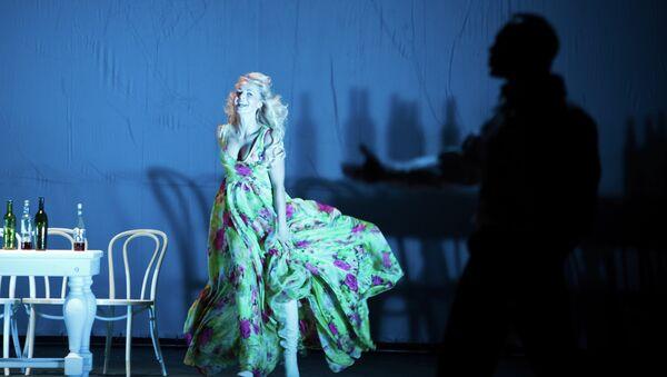Сцена из спектакля Ярославского театра им. Волкова Пьеса без названия