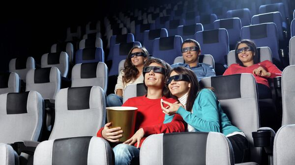Зрители в кинотеатре, архивное фото
