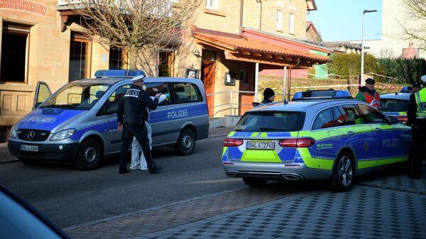 Полиция на месте стрельбы в городе Рот-ам-Зее, Германия