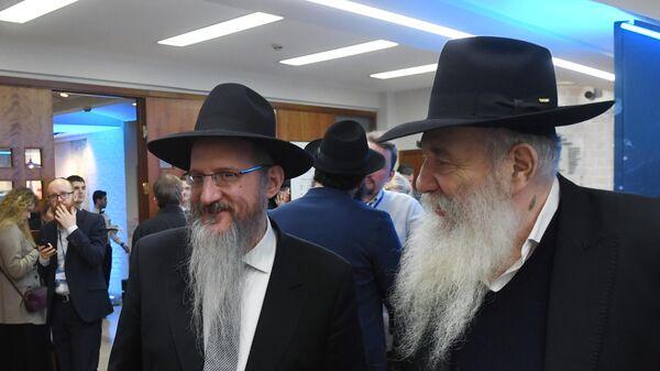 Главный раввин России Берл Лазар на съезде Федерации еврейских общин России
