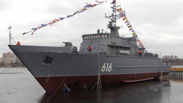 Спуск на воду новейшего корабля противоминной обороны «Яков Баляев»