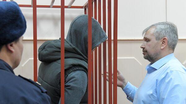 Бывший сотрудник полиции Максим Уметбаев на заседании Басманного суда города Москвы