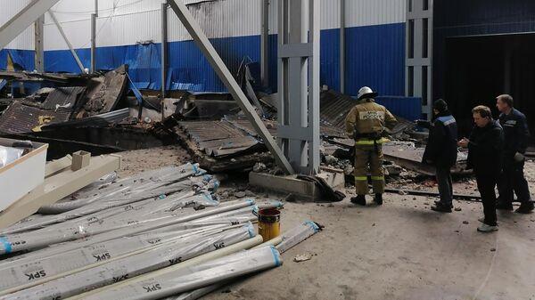 Место происшествия на заводе резиновых изделий в Мценске Орловской области