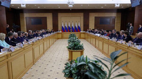 Президент РФ Владимир Путин проводит заседание Совета по развитию местного самоуправления 30 января 2020 г.
