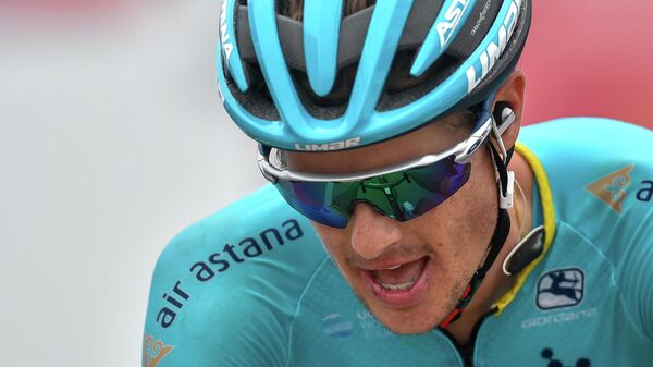 Велогонщик команды Астана Якоб Фульсанг (Дания)