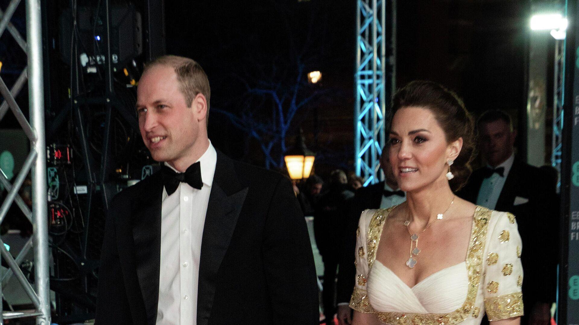 Кейт Миддлтон и принц Уильям на церемонии вручения премии BAFTA в Лондоне - РИА Новости, 1920, 29.04.2021