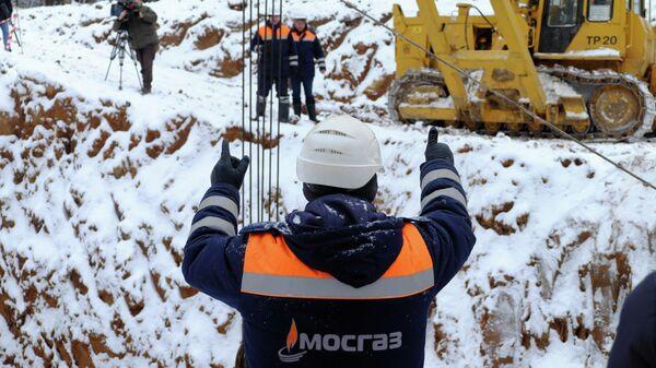 Прокладка газопровода в новой Москве