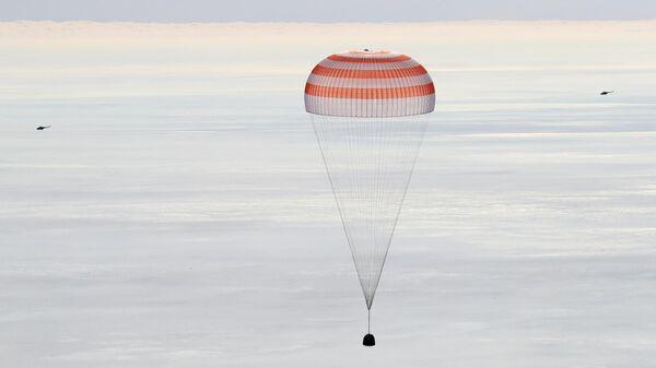Посадка пилотируемого корабля Союз МС-13. 6 февраля 2020