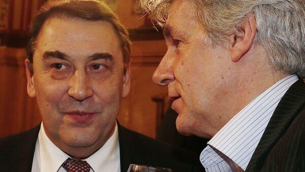 Председатель оргкомитета партии Гражданская инициатива Андрей Нечаев (слева). Архивное фото