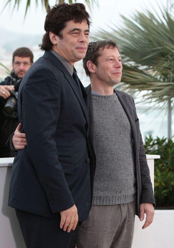 Бенисио Дель Торо и Матье Амальрик на 66-ом Каннском кинофестивале