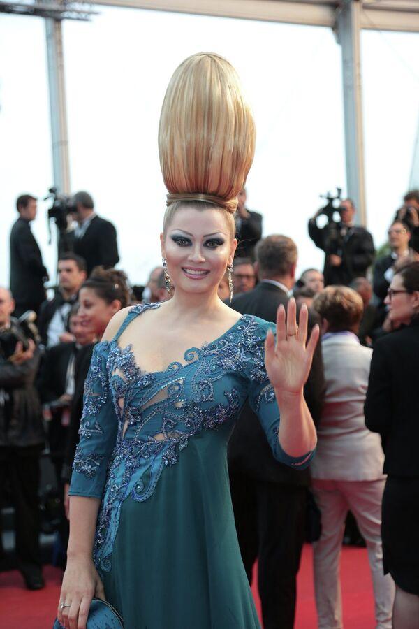 Российская писательница Елена Ленина на 66-ом Каннском кинофестивале