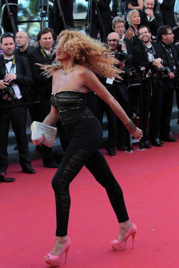 Певица и актриса Афида Тернер на 66-ом Каннском кинофестивале