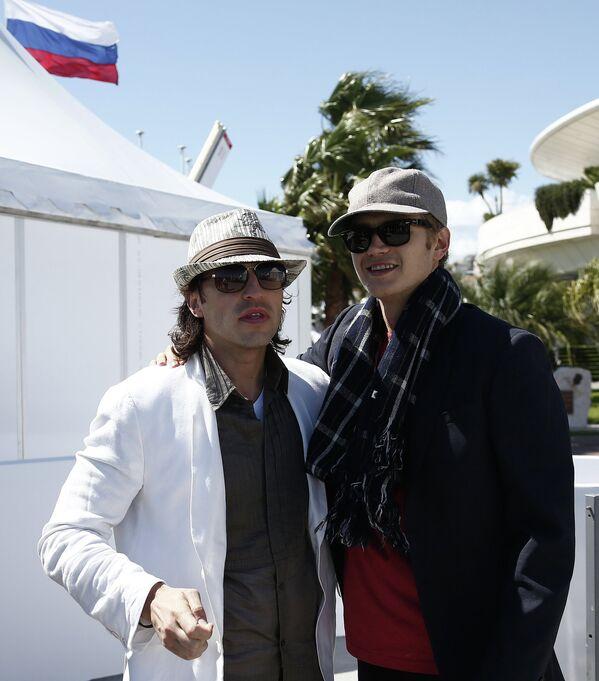 Александр Ревва и Хайден Кристенсен на 66-ом Каннском кинофестивале