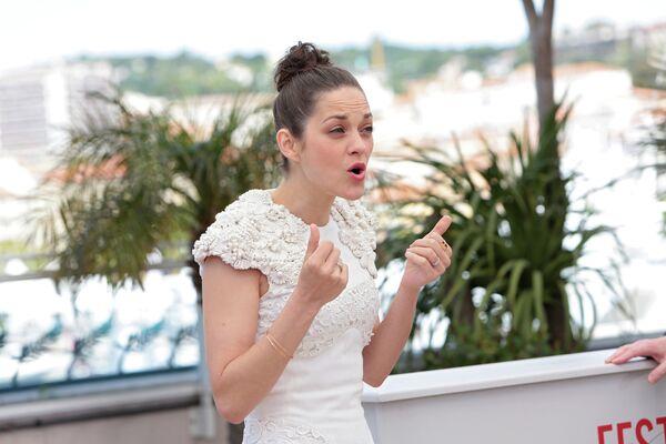 Актриса Марион Котийяр на 66-ом Каннском кинофестивале