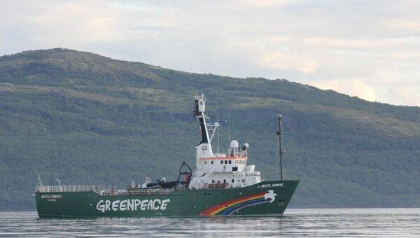 Ледокол Гринпис Arctic Sunrise , архивное фото