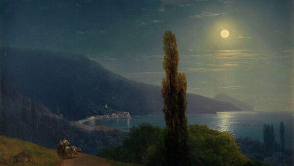 Картина Ивана Айвазовского Лунная ночь в Крыму, 1859 г.