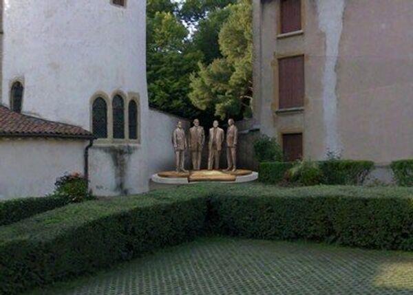 Памятник основателям Евросоюза