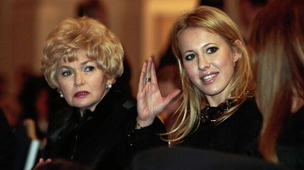 Ксения Собчак и Людмила Нарусова на концерте памяти Анатолия Собчака