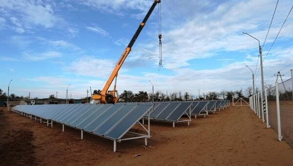 Гибридная теплостанция на солнечных батареях под Астраханью
