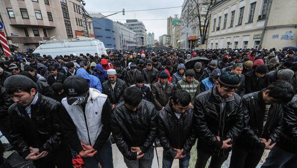 Празднование Курбан-байрама в Москве