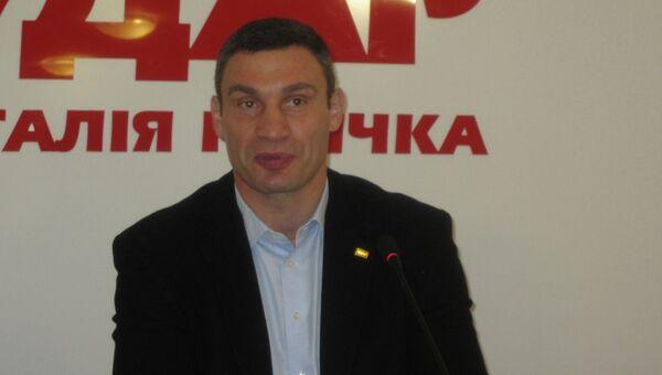 Брифинг Виталия Кличко