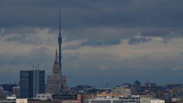 Вид на Москву с Воробьевых гор. Архив