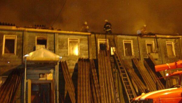 Пожар в общежитии в ЯНАО. Архивное фото