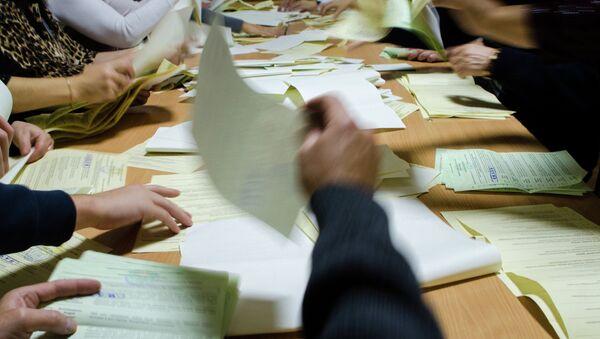 Подcчет голосов парламентских выборов на Украине