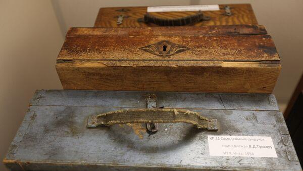 Лагерные чемоданы, которые заключенные, как правило, делали из посылочных ящиков