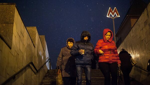 Ледяной дождь в центре Москвы